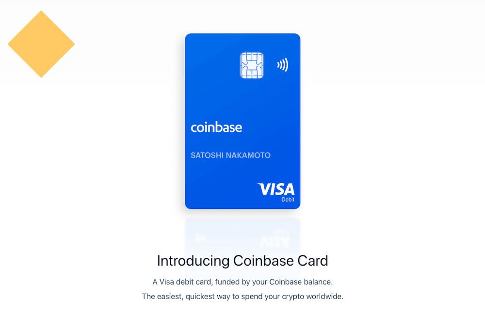 Coinbase Card Website